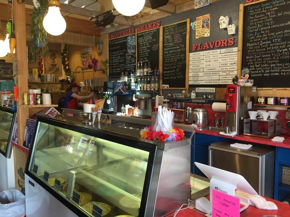 Osburn's Ice Creamery: 240 N Hemlock St, Cannon Beach, OR