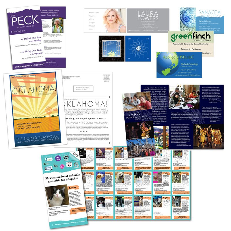 Print projects business cards mailers brochures yelp photo of graphic design by anne starke eugene or united states print reheart Choice Image