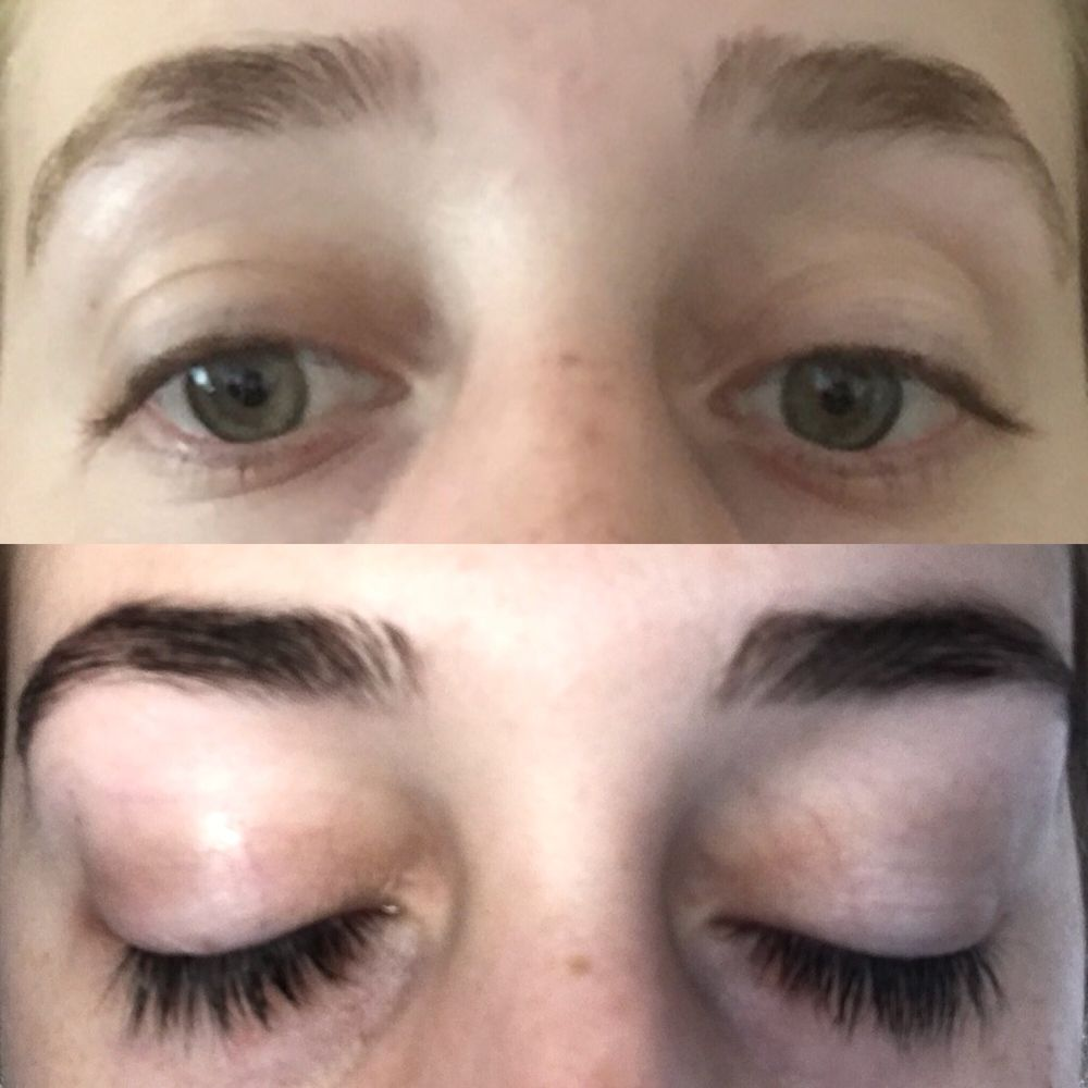 Before And After Eyelash And Eyebrow Tinting Dark Brown Tint For