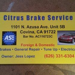 Photo Of Citrus Brake Service Covina Ca United States