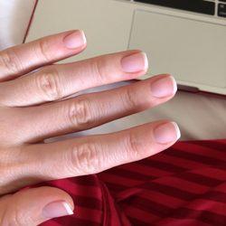 Photo Of Silk Nails Austin Tx United States White Tip Thin
