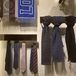 a067cd45ac758 Photo of Louis Vuitton - Warsaw, Poland. Men's selection in ties plus scarfs