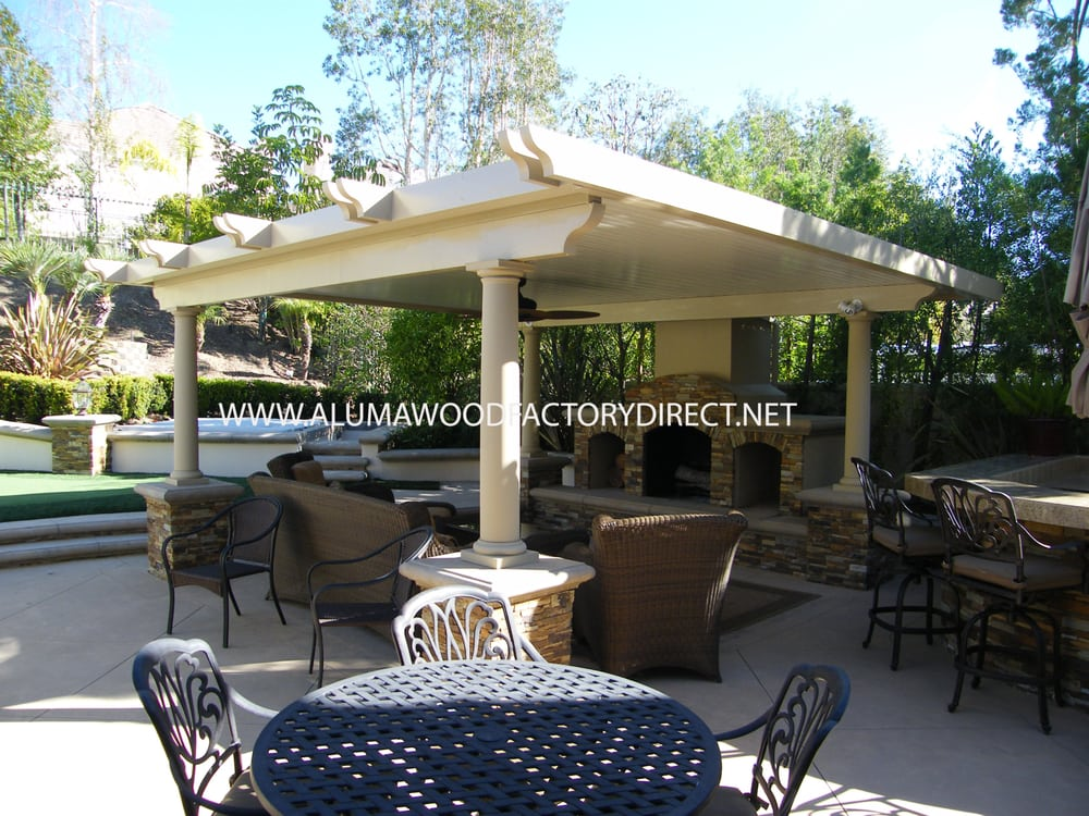 Freestanding Alumawood Patio Covers : Alumawood patio cover freestanding newport flat pan in