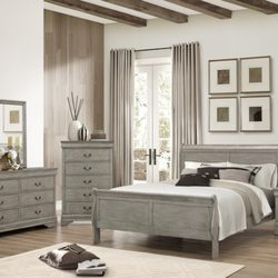 Photo Of The Furniture Shack   Portland, OR, United States. Gray Sleigh Bed