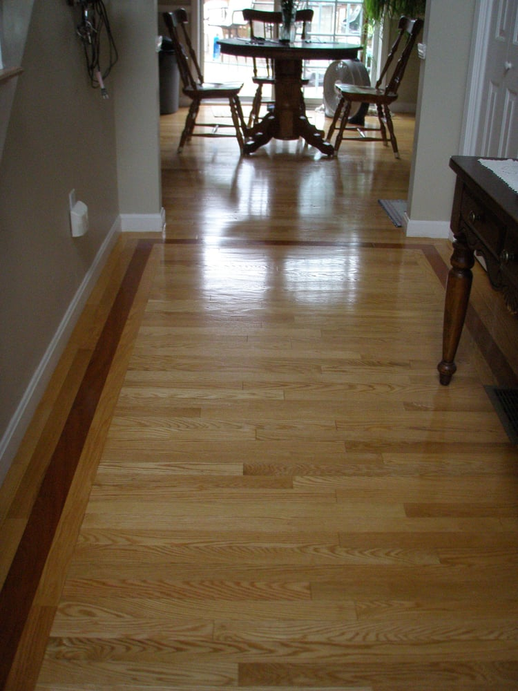 Red Oak Flooring With Brazilian Cherry Accent Strip Yelp