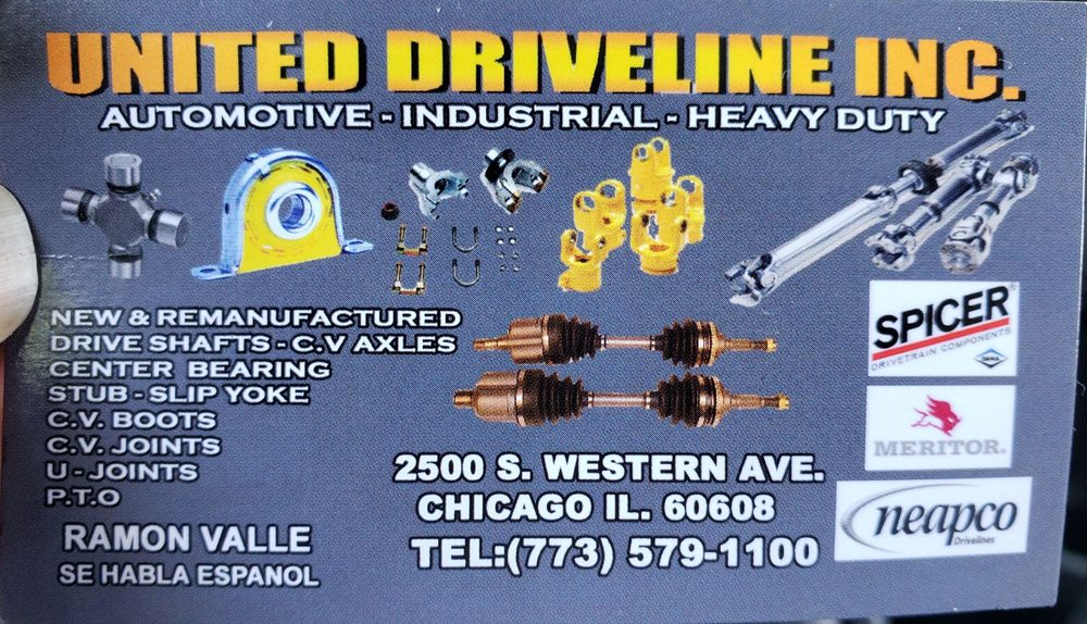 United Driveline: 2500 S Western Ave, Chicago, IL