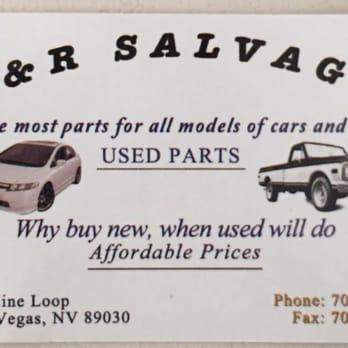 R & R Salvage - Auto Parts & Supplies - 2224 Crestline Lp, North Las ...