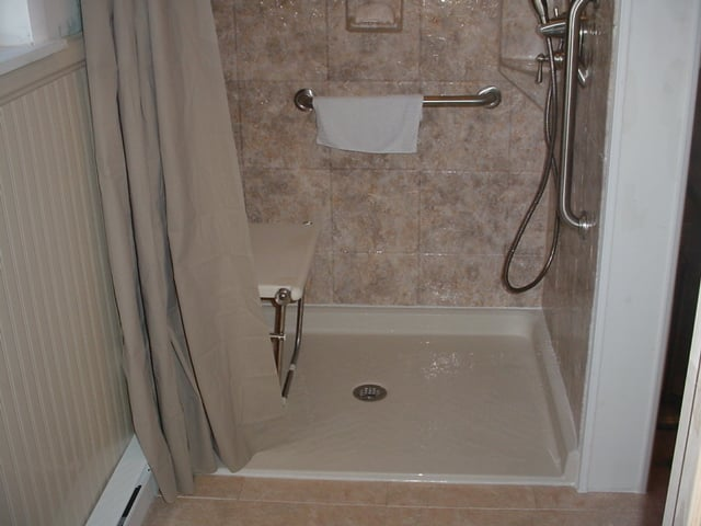 Handicapped Walk In Barrier Free Shower With Seat By All Bath Delectable Bathrooms With Walk In Showers Concept
