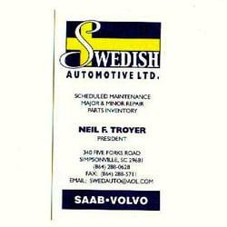 Swedish Automotive Ltd - Auto Repair - 340 Five Forks Rd