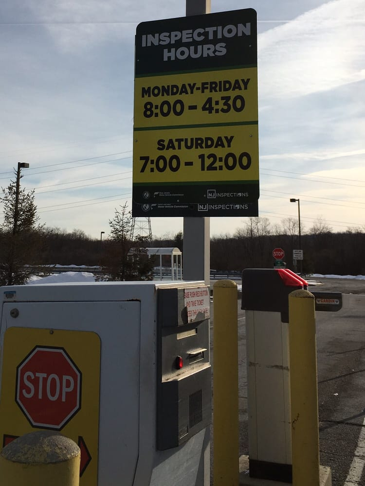 nj motor vehicle inspection hours