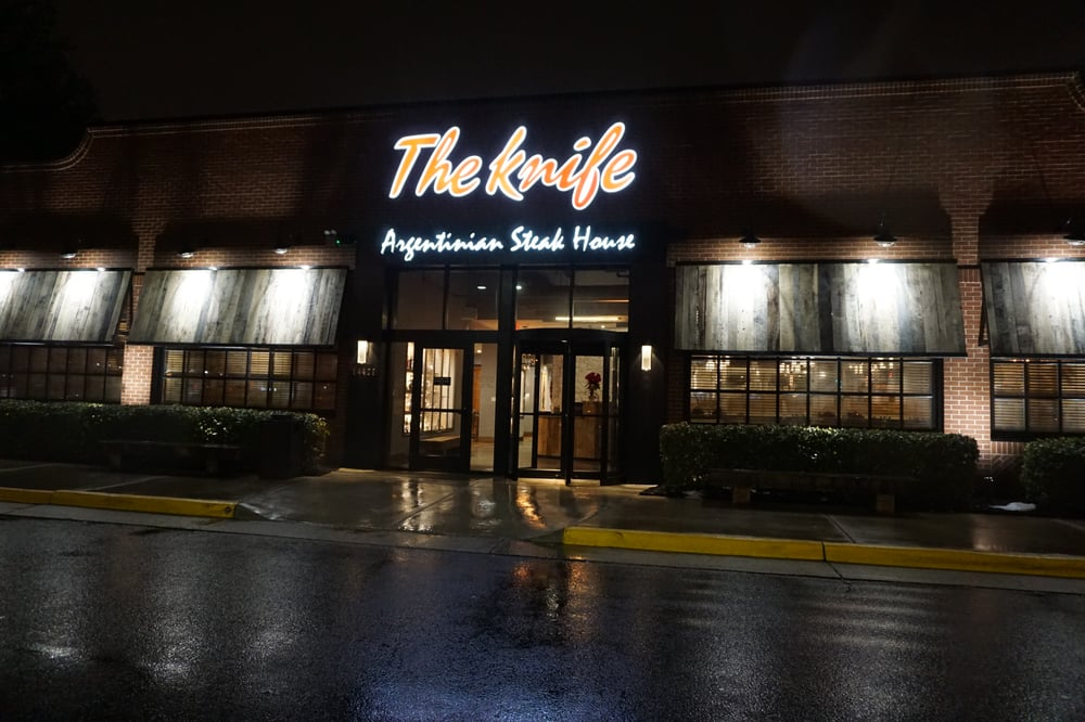 What The Restaurant Looks Like From The Outside Rainy Night Yelp