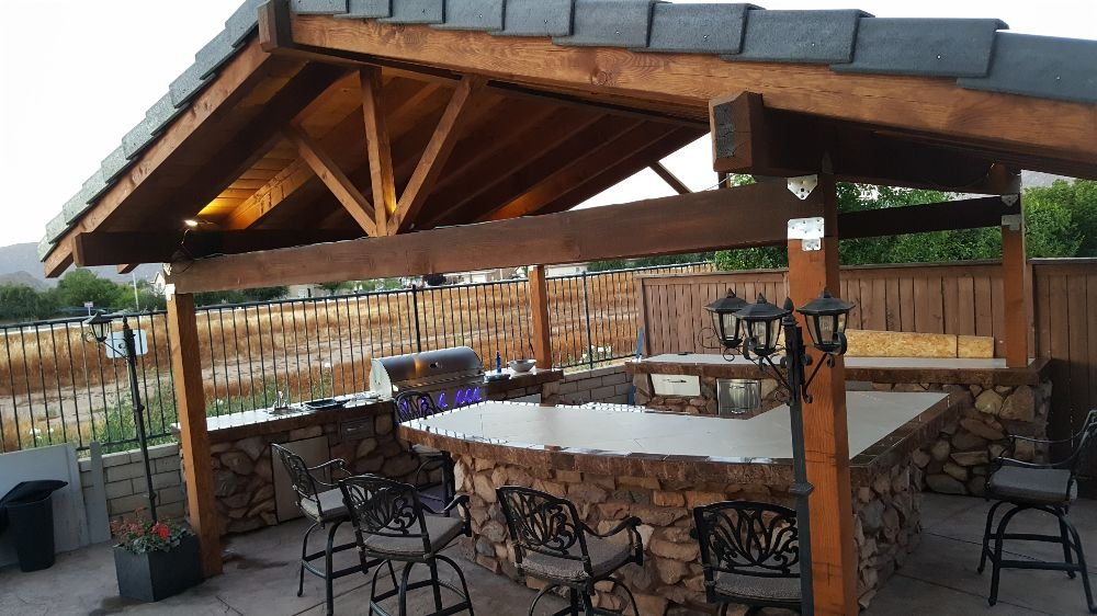 Free standing patio with outside kitchen. Call or text for free ...