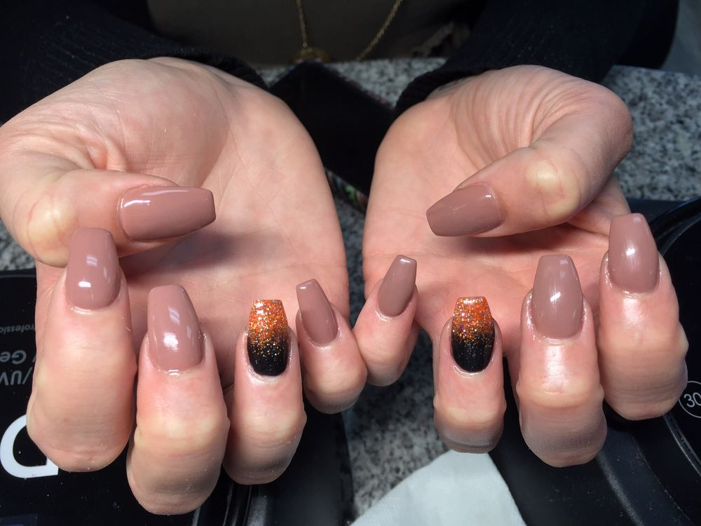 Fall/ Halloween coffin nails!! Absolutely in love!!! - Yelp