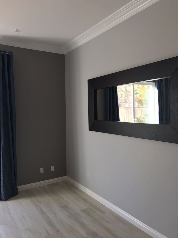 Light Gray With Dark Gray Accent Walls Yelp