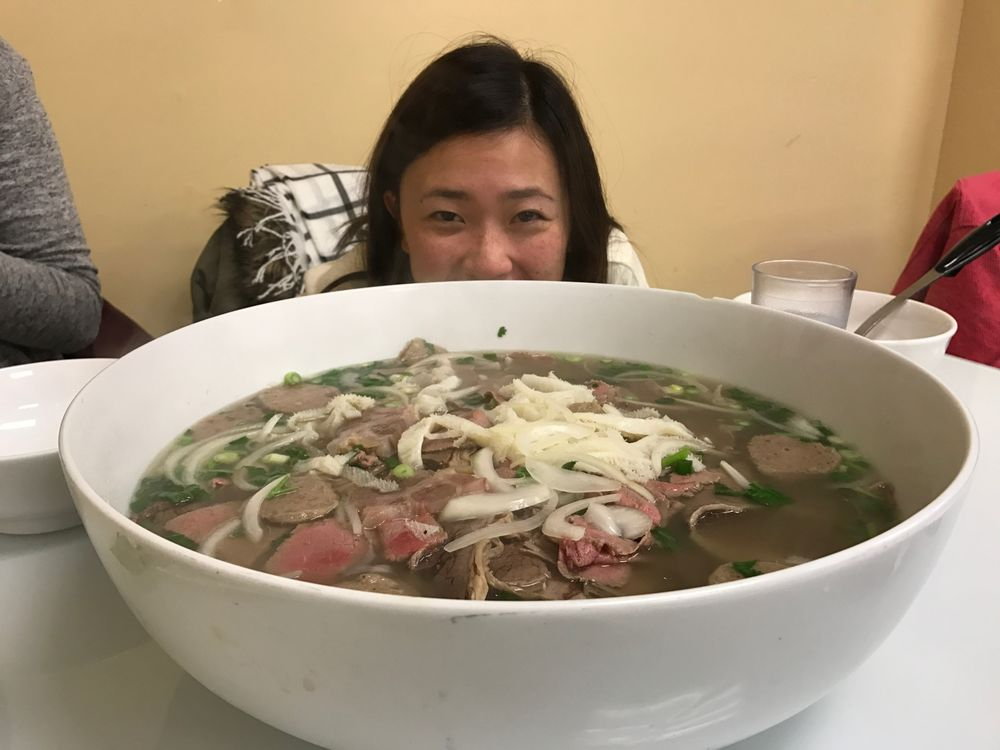 Giant bowl of pho was definitely big! - Yelp