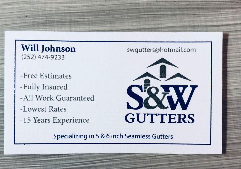 S & W Gutters and Construction: 322 Florence St, New Bern, NC