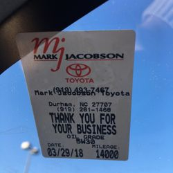 Photo Of Mark Jacobson Toyota   Durham, NC, United States. Sticker With  Wrong