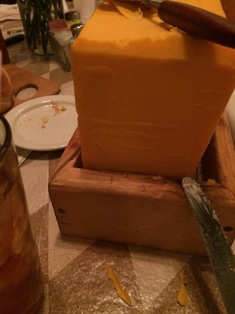 On the house cheddar before the entree - Yelp