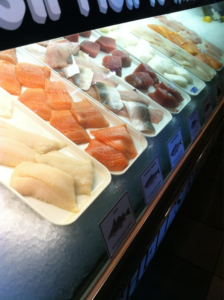 Fresh fish on display yelp for Mitchells fish market lansing