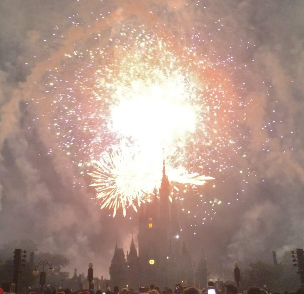 Holiday Wishes Fireworks: Polynesian Boat Dock, Bay Lake, FL
