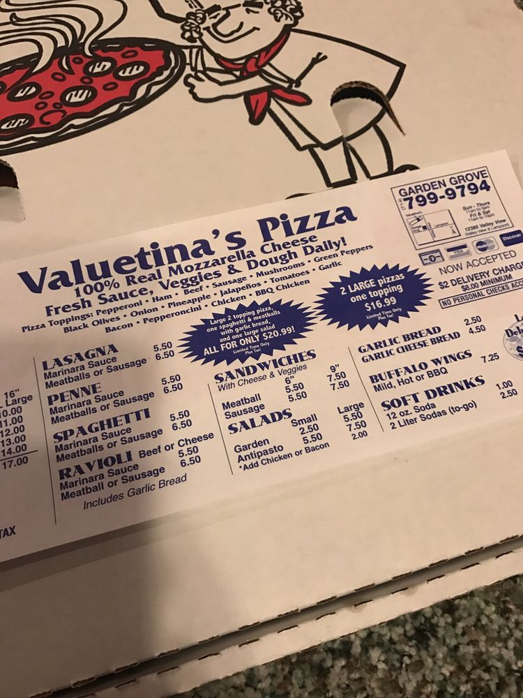 Valuetina S Pizza 15 Photos 32 Avis Pizza 12385 Valley View St Garden Grove Ca Tats