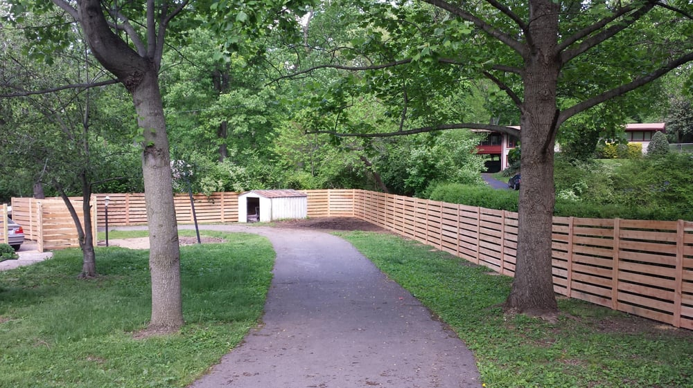 6 Foot Horizontal Cedar Board Fence With 2 Inch Space Yelp