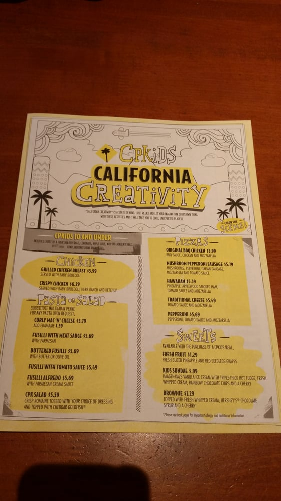 California Pizza Kitchen Yelp San Jose