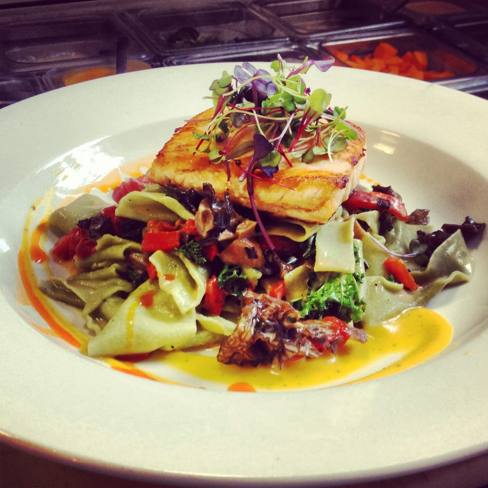 Classic Beurre Blanc Recipe: Grilled Salmon Over Homemade Paparadelle W/wilted Kale