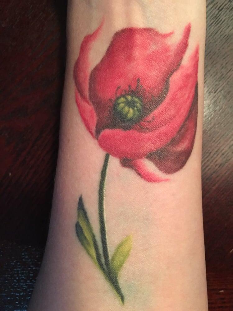 Poppy Flower Tattoo: Poppy Flower Tattoo Inside Left Forearm Done By Autumn