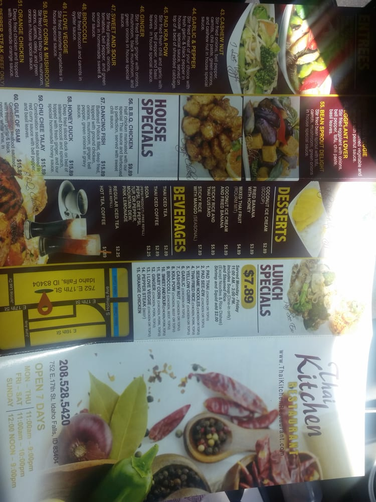 front and back of menu with lunch specials - yelp