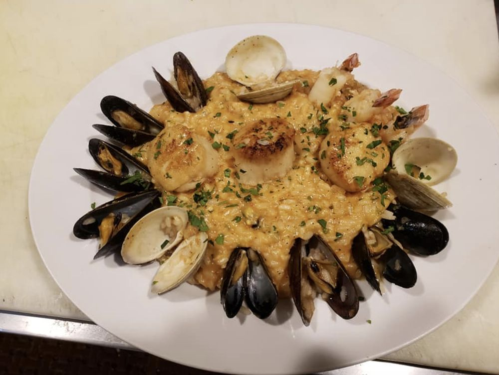 Food from Rocco's fine dining