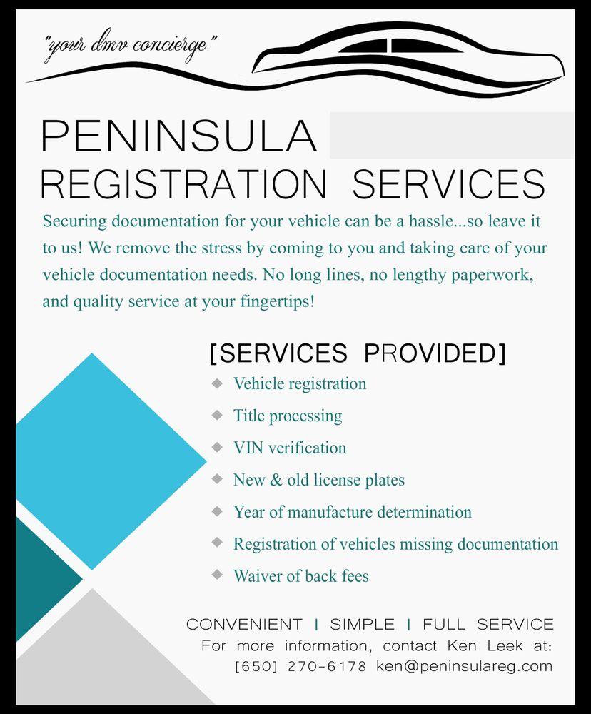 Peninsula Registration Services: Belmont, CA