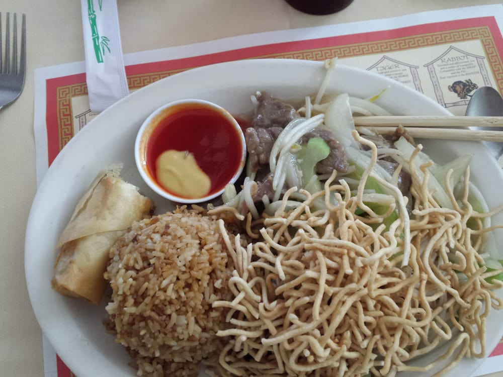 shrimp chow mein lunch special... bland. - Yelp