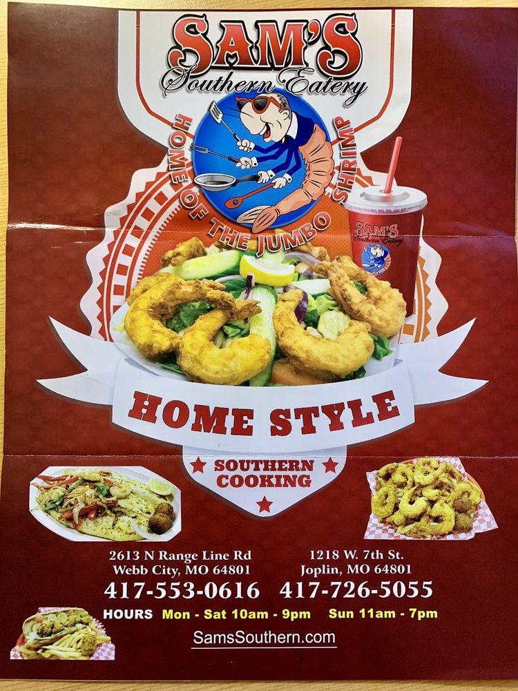 Sam's Southern Eatery: 1218 W 7th St, Joplin, MO