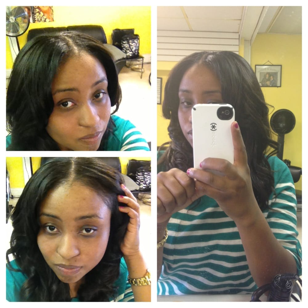 unlimited styles hair salon sew in with leave out at the top yelp 8550