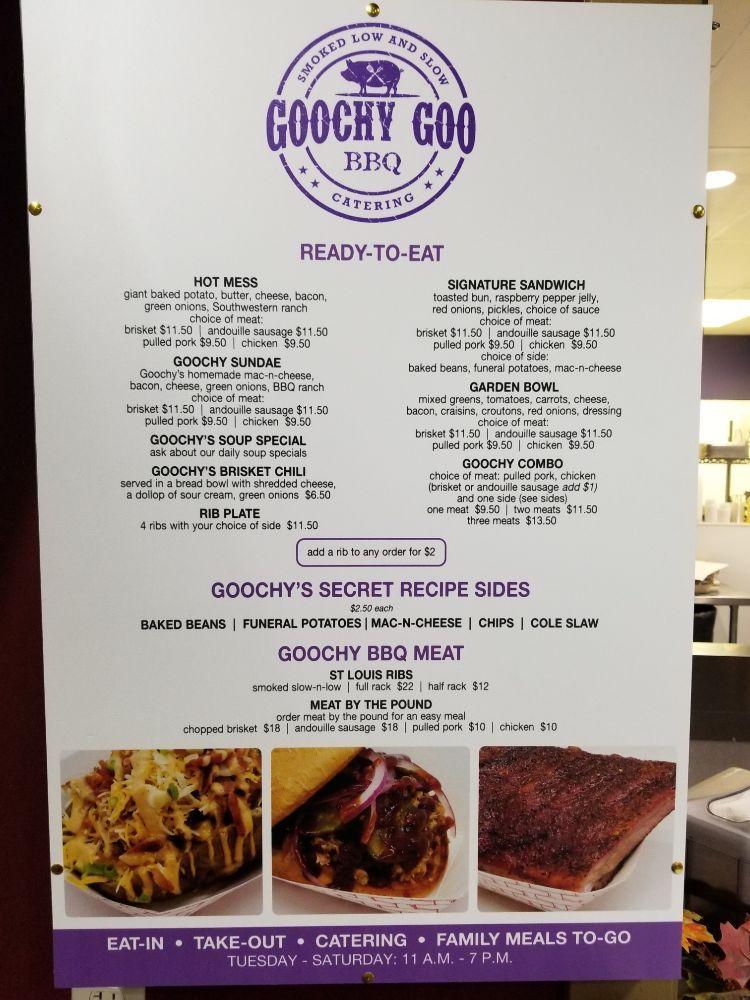 Goochy Goo BBQ: 51 E West Main St, Midway, UT
