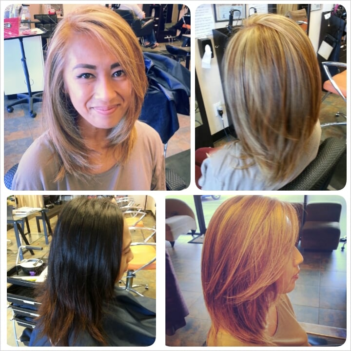 Before After Black To Blonde Full Head Highlights And Color On