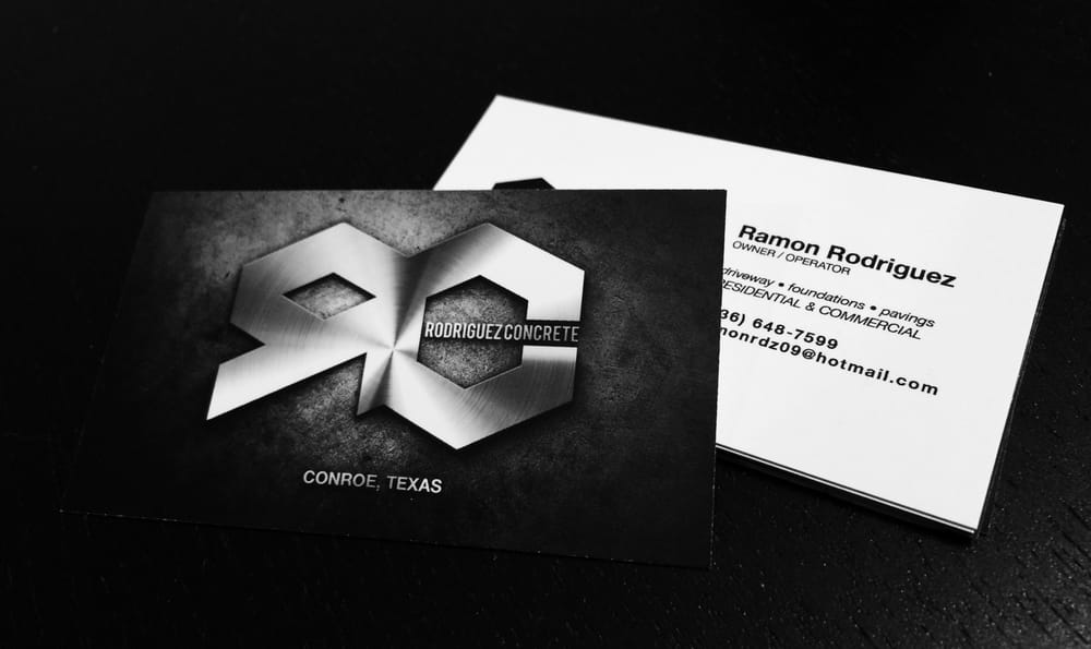 Rodriguez Concrete business cards. - Yelp