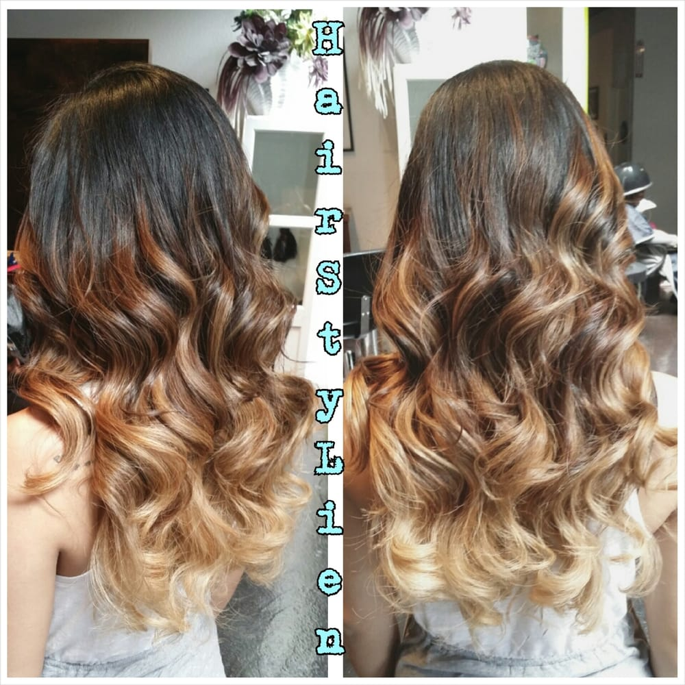 4 month old balayage ombre done by lien still looks for Salon vizions