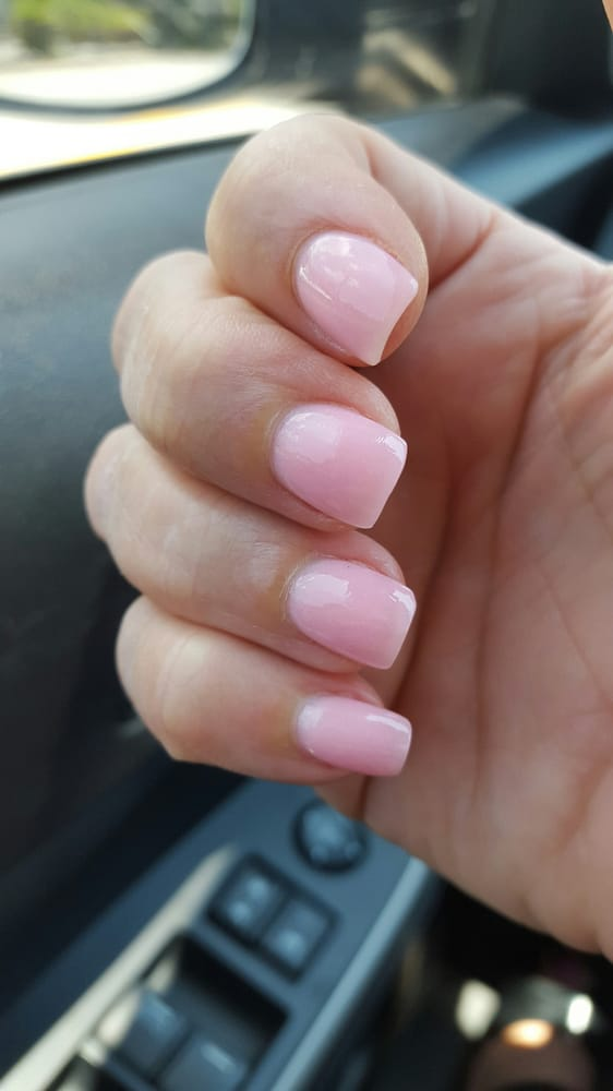 My natural nails with sns overlay. - Yelp