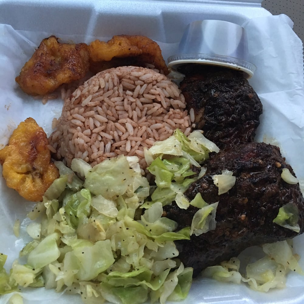 Jerk chicken to go so delicious yelp for Afro caribbean cuisine