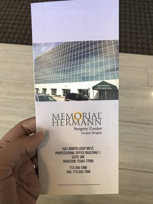 Memorial Hermann Surgery Center Greater Heights 1631 North