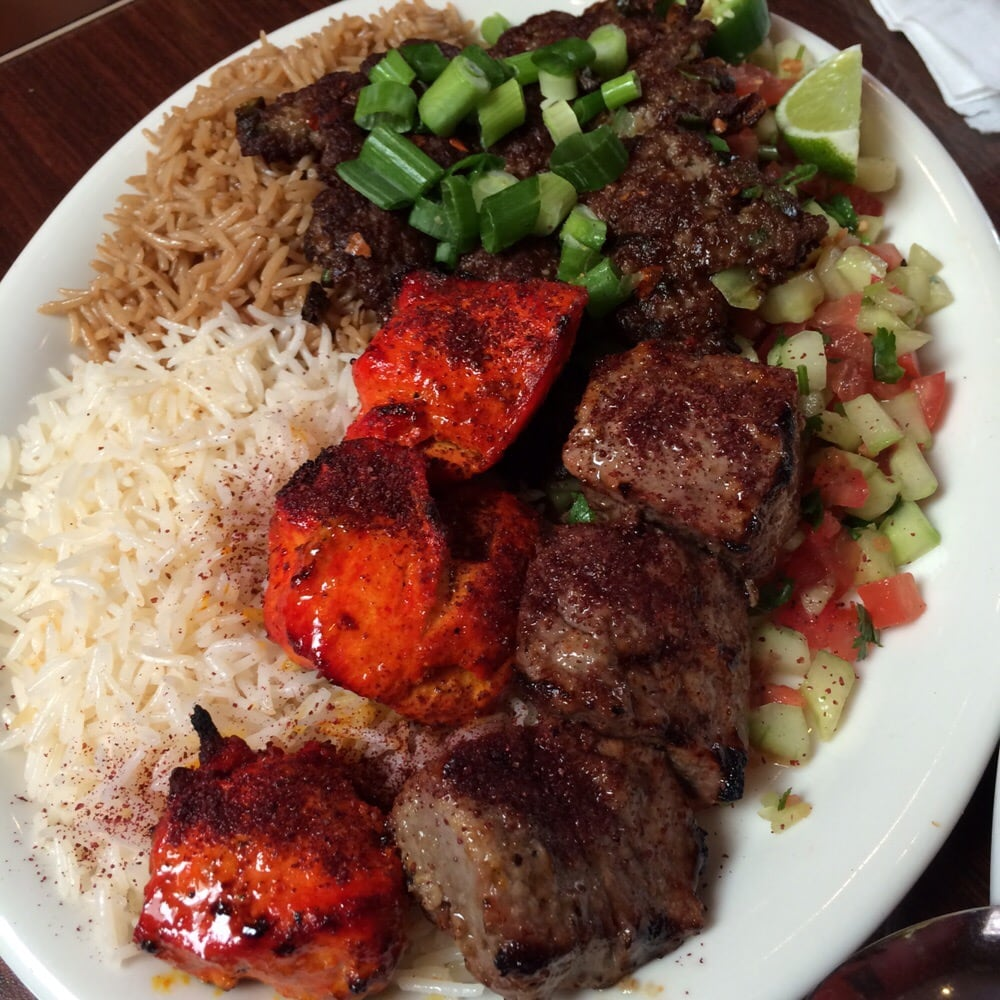 Photo of De Afghanan Kabob House - San Francisco, CA, United States. Triple Kabob platter.. So good! Chicken was my favorite!