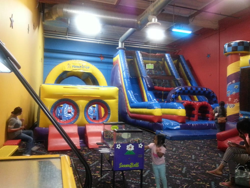 About Pump It Up of Chula Vista Let your kids jump around, climb and slide at a Pump It Up location. They have bouncers and obstacle courses where kids can jump for hours!