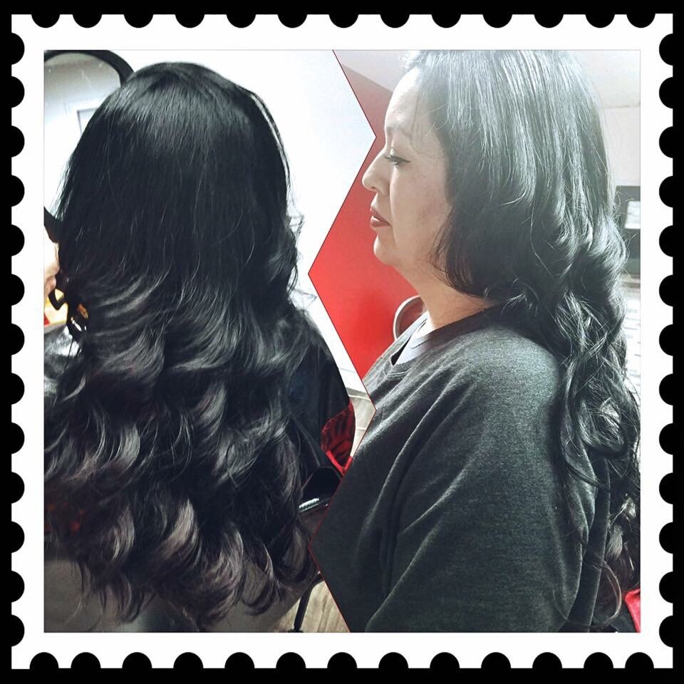 Colored Gray Hair Extensions Added For Length Yelp
