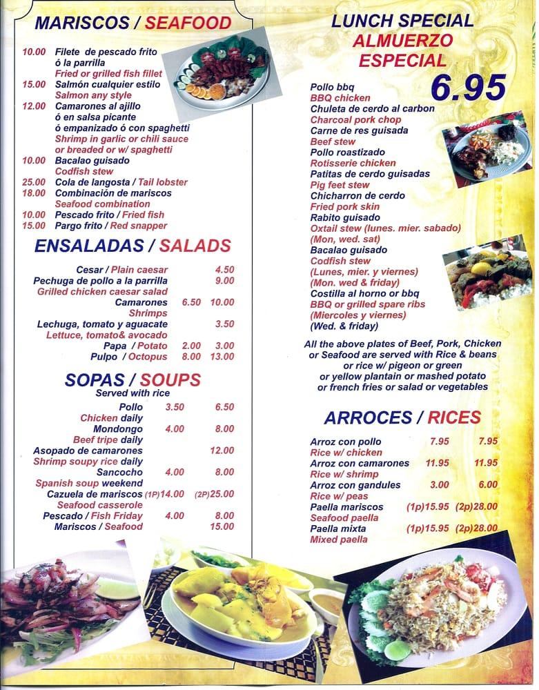 Restaurant Paterson Nj Menu