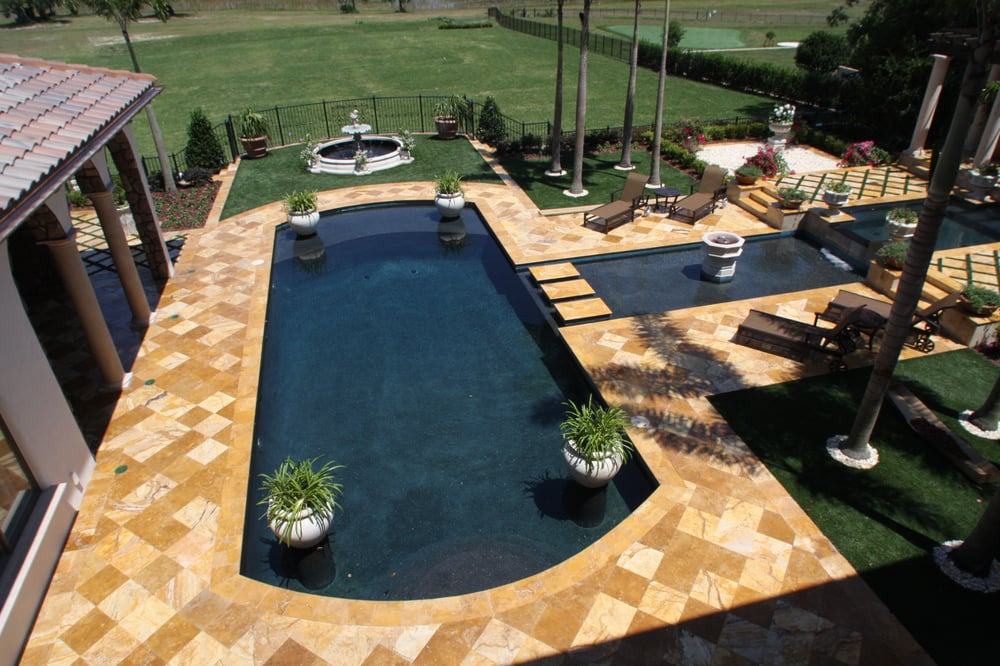 Travertine Paver Pool Deck Yelp