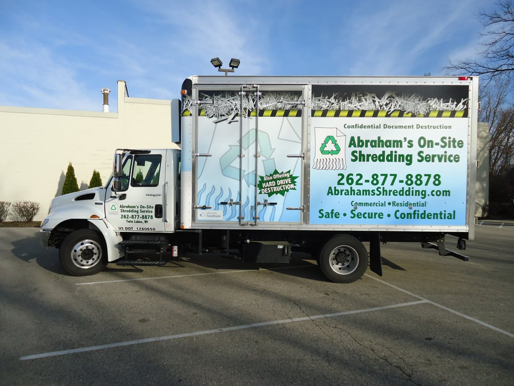 Abraham's On-Site Shredding Service: Muskego, WI