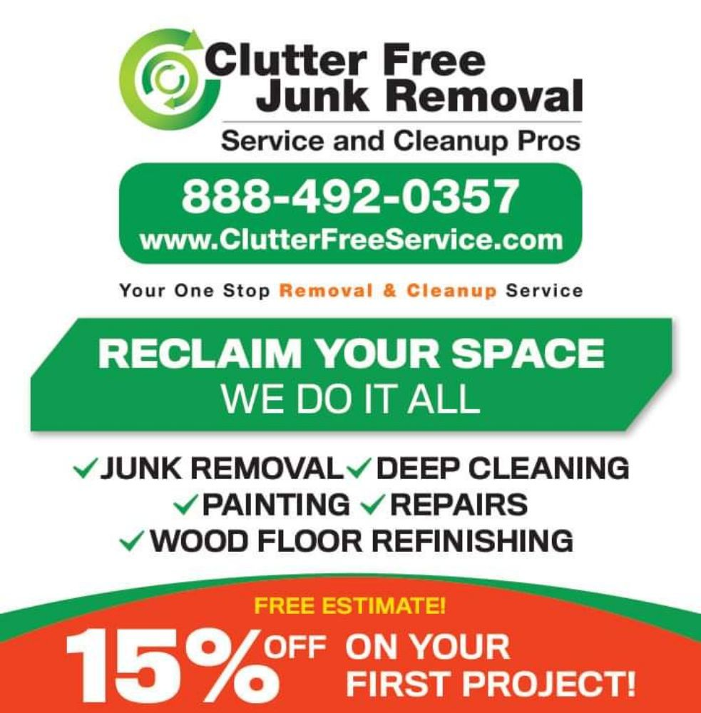 Free Junk Removal >> Clutter Free Junk Removal Service Cleanup Pros 401 Photos 45