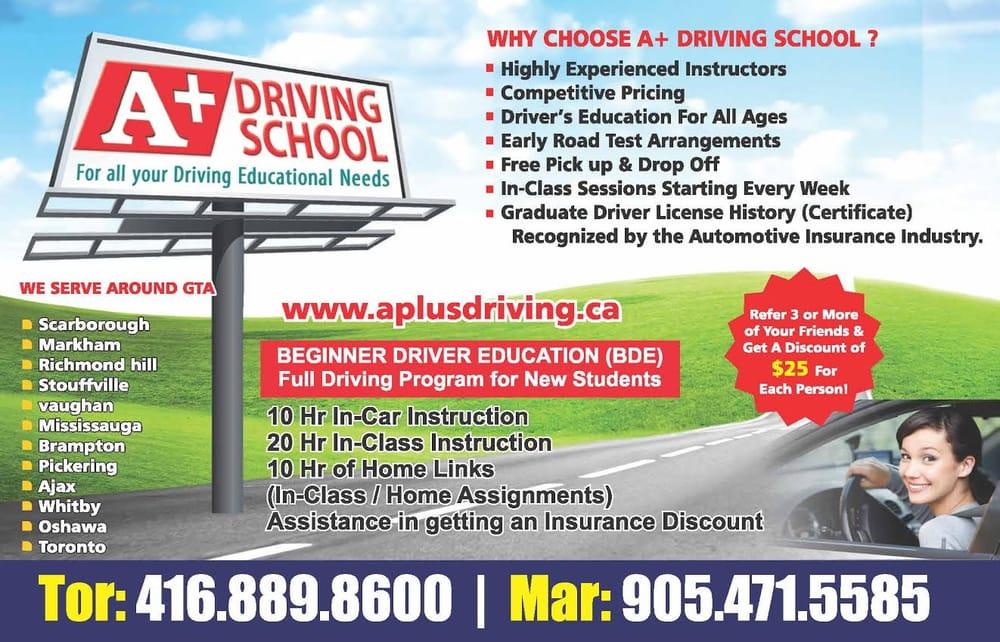A Driving School Driving Schools 9889 Markham Road